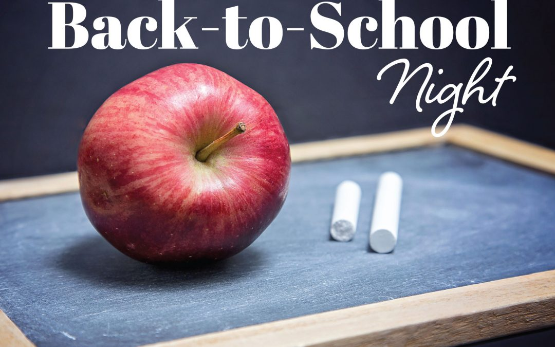 Preschool Open House/ Back To School Night