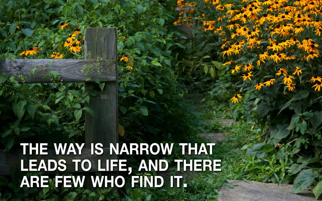 The way is narrow that leads to life, and there are few that find it. Matthew 7:14 (NASB)