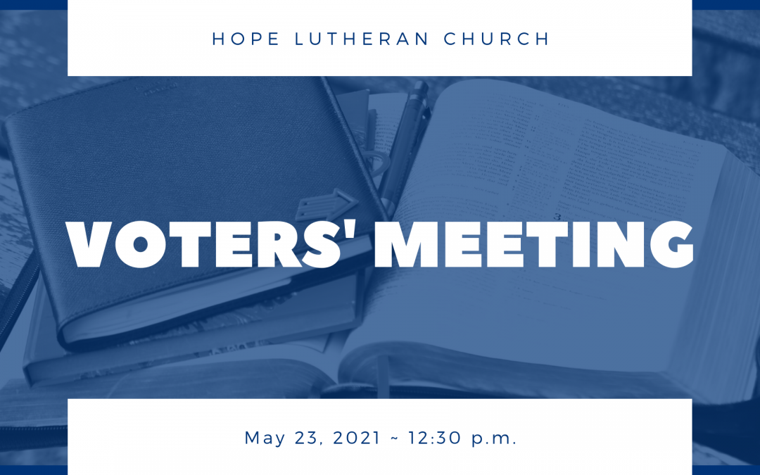 Special Voters' Meeting – May 23