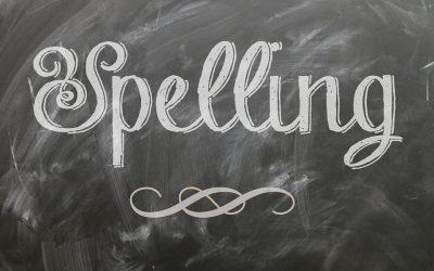 Spelling words for 9/24/21:
